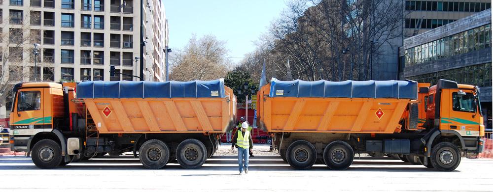 trabajos de urbanización en el tranvía de Zaragoza