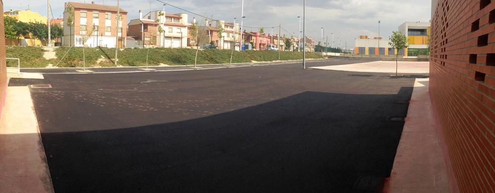 PAVIMENTACION ASFALTICA EN EL CEIP REINO DE ARAGON EN LA PUEBLA DE ALFINDEN